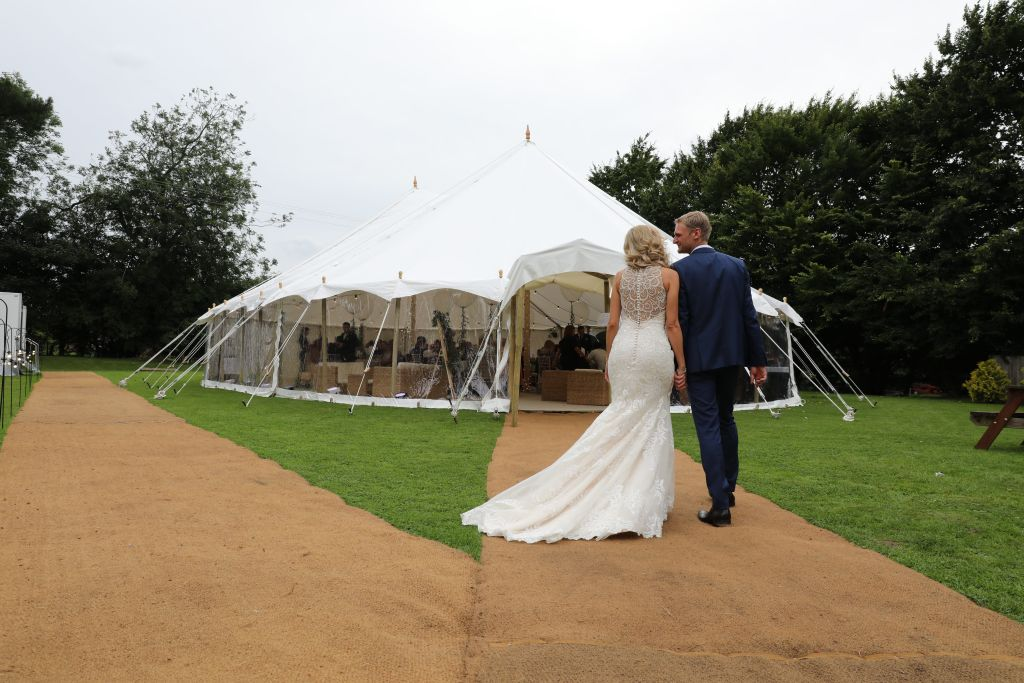 Gorgeous petal wedding marquee