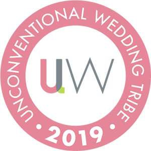Unconventional wedding tribe member badge