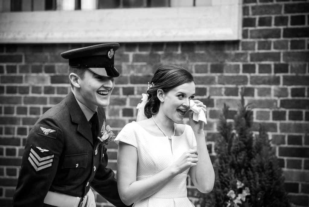 winter wedding lincolnshire photos bride and groom crying