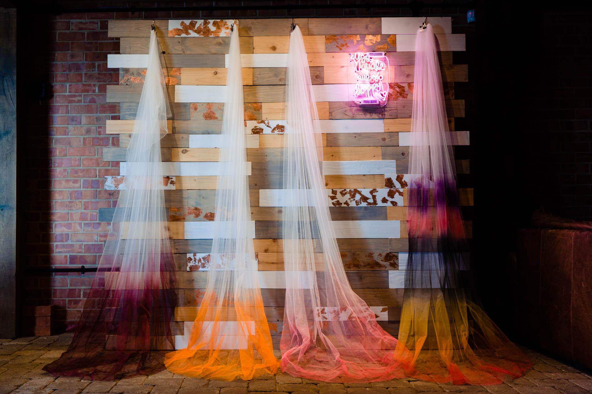 dip dye wedding veils - ombre wedding veils - east midlands wedding planner - derby wedding planner - nottingham wedding planner - leicester wedding planner