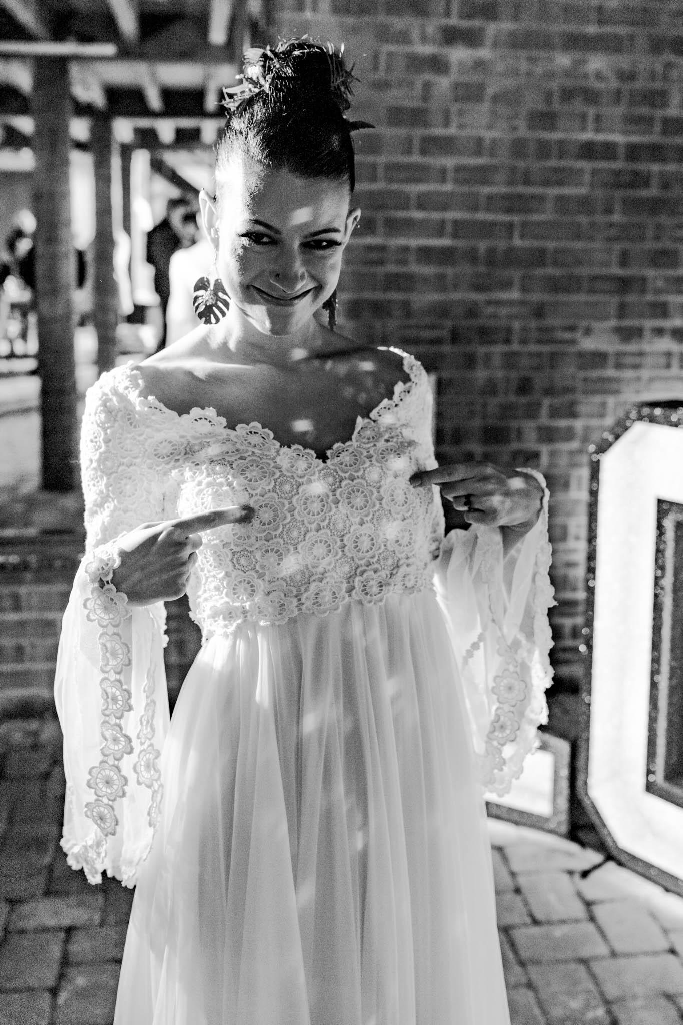 funny wedding photo - modern tropical wedding - modern wedding - modern bride - east midlands wedding planner