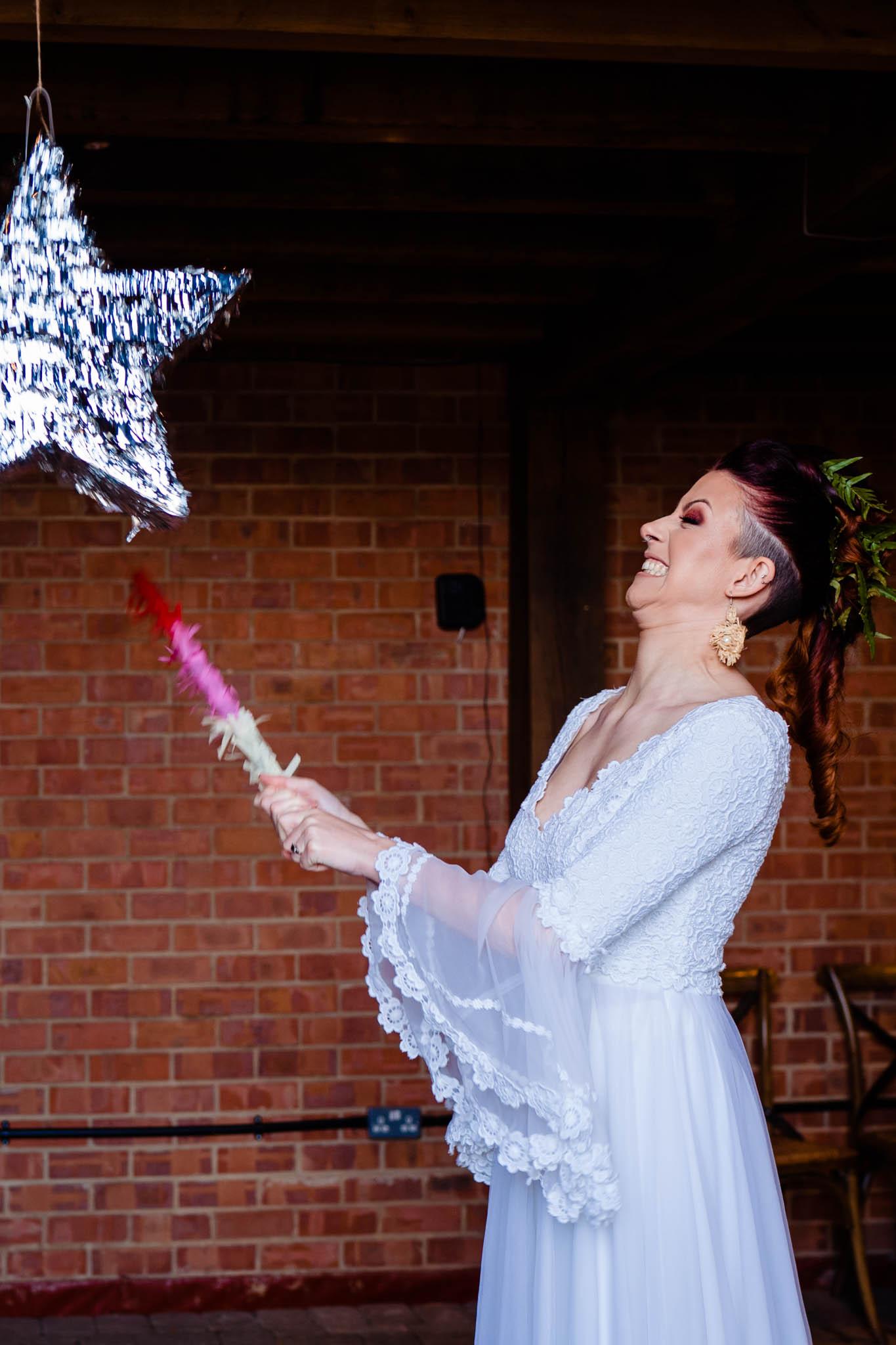wedding pinata - fun wedding ideas - modern tropical wedding - modern wedding - modern bride - east midlands wedding planner