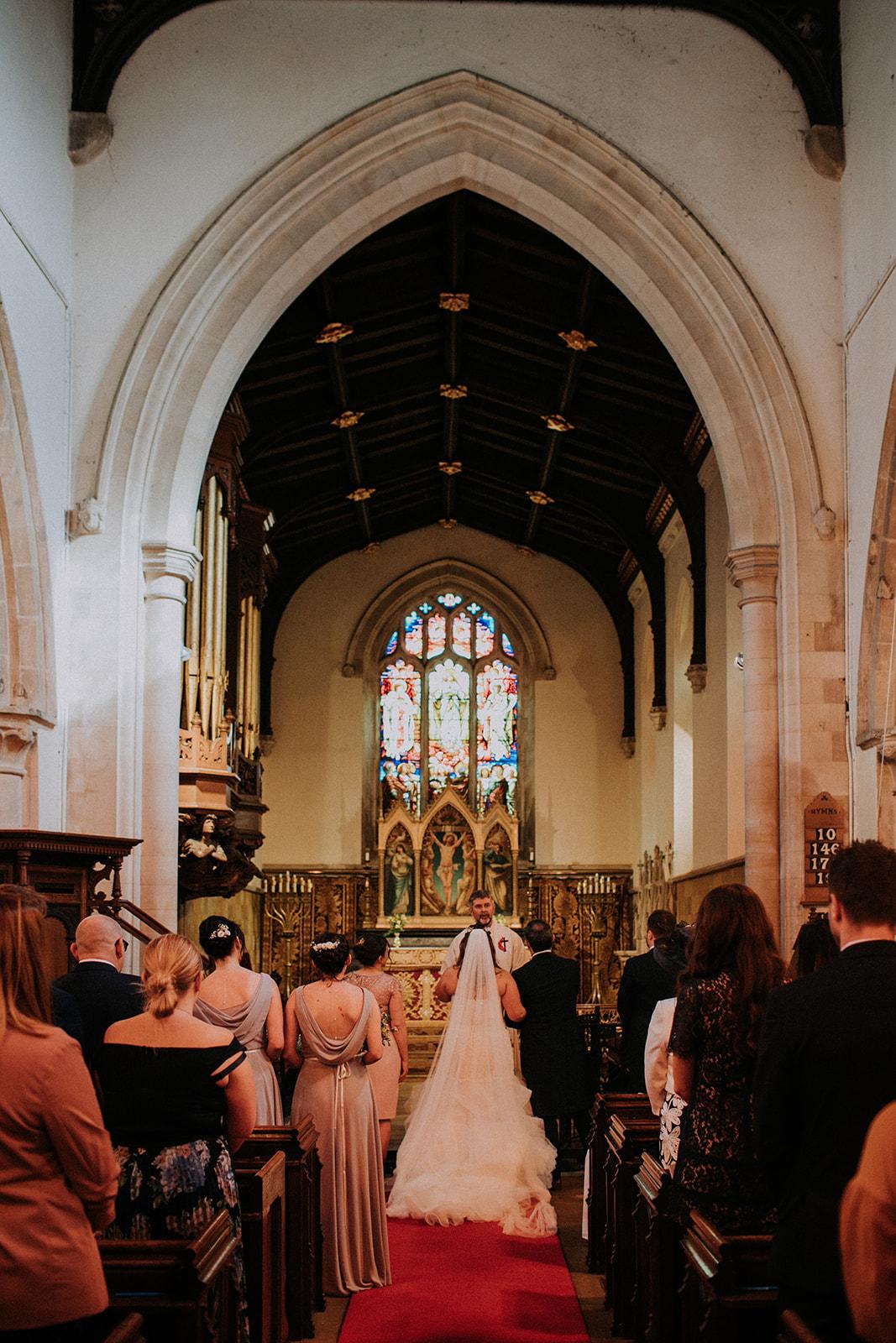church wedding ceremony - rutland wedding - fun wedding - east midlands wedding planner - Leicestershire wedding planning - unique wedding planner - that black and white cat