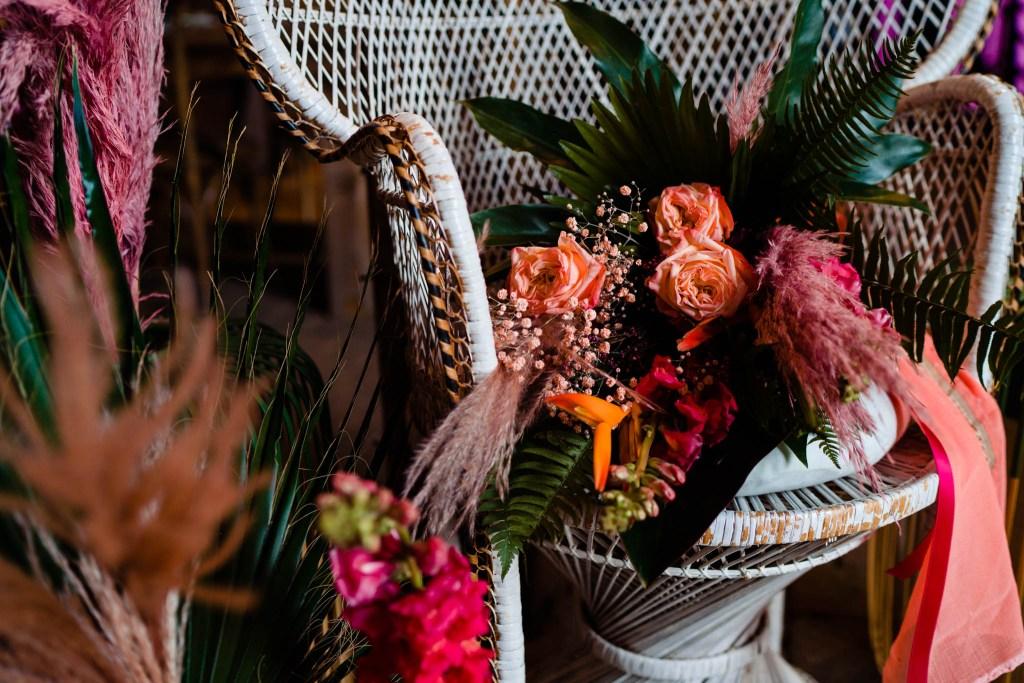 colourful wedding flowers - modern wedding flowers - tropical wedding flowers