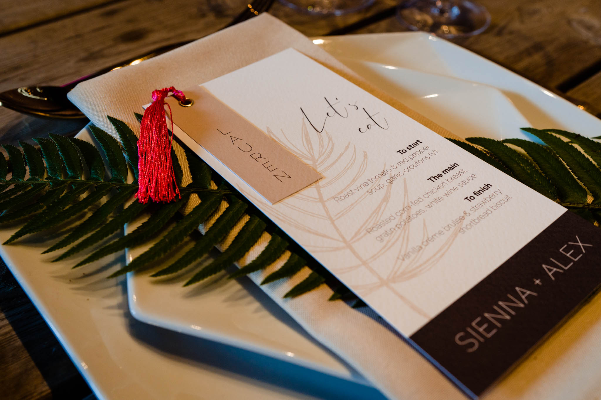 modern wedding stationery - modern tropical wedding - modern wedding - modern bride - east midlands wedding planner