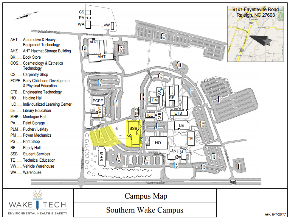 Greenville Tech University Campus Maps