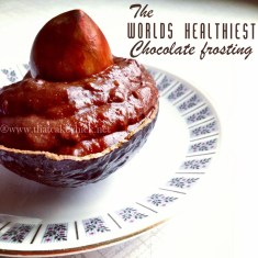 The worlds healthiest chocolate frosting