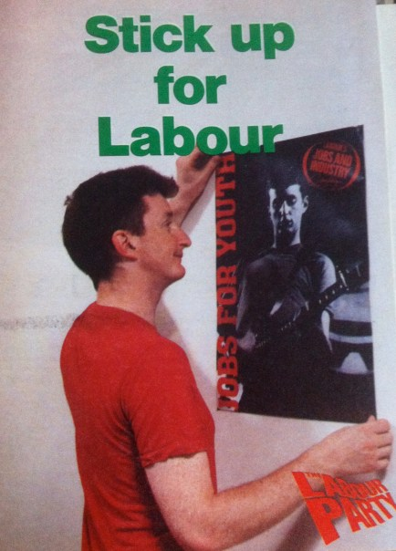 Billy Bragg - on a leaflet from my archives