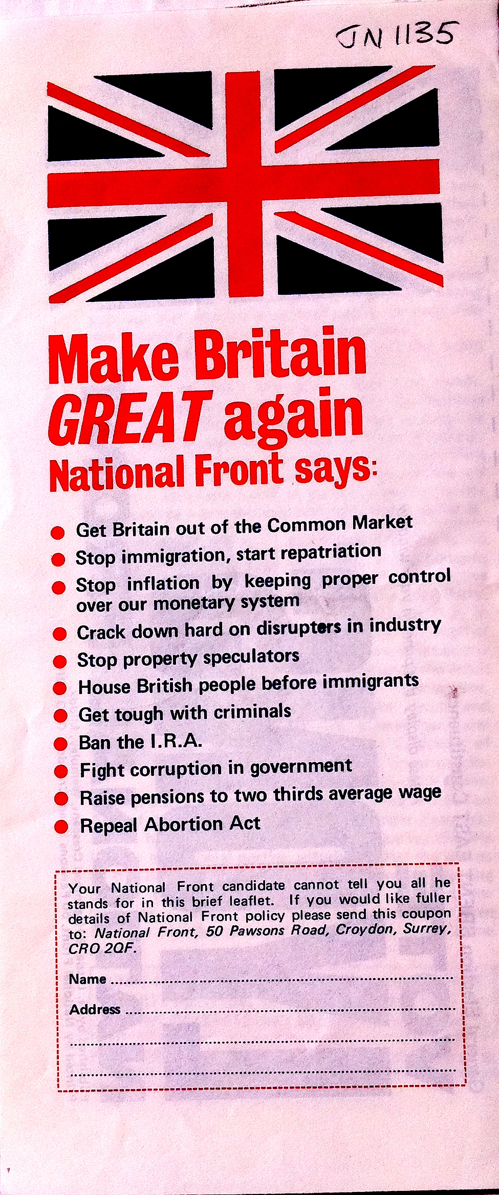 National Front 1970s