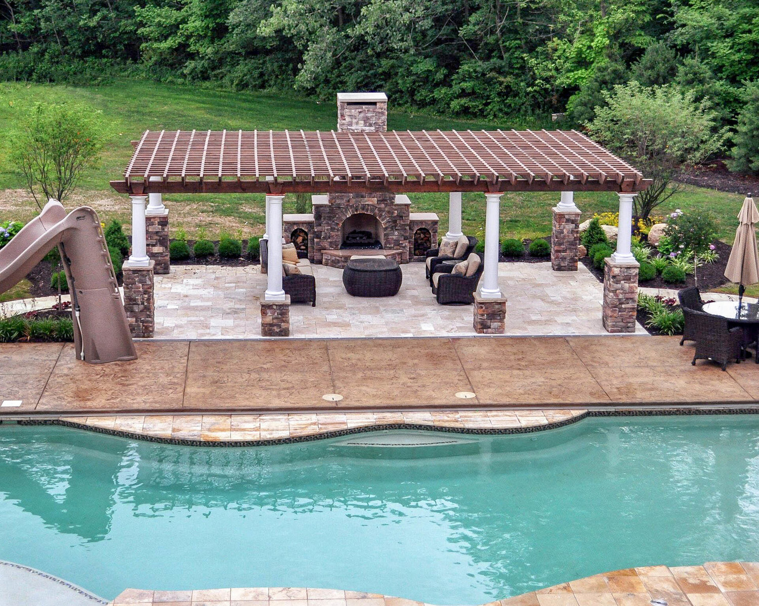 Summerbrook Outdoors - Thatcher Pools and Spas on Outdoor Kitchen By Pool id=64542
