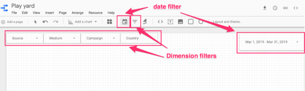 Adding filters to your Google Data Studio