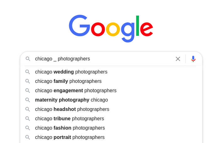 Google Autocomplete predictions 8