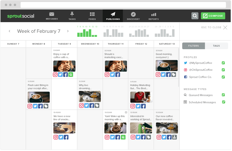sprout social instagram calendar instagram analytics tool guide