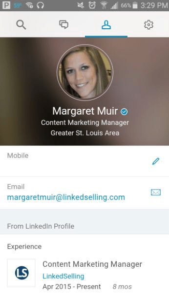 get verified on social media LinkedIn example