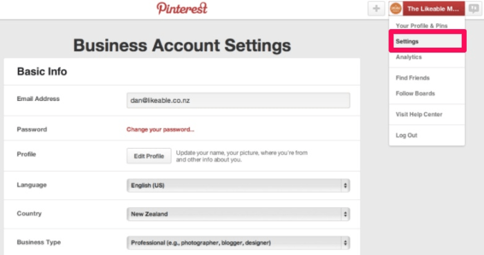 get verified on social media Pinterest screenshot