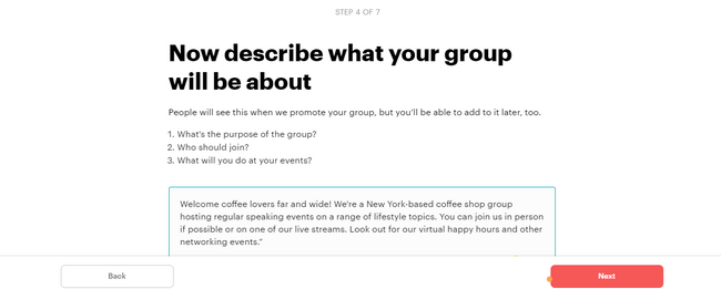 How to choose your group name on Meetups