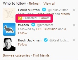 twitter for SEO promote twitter accounts ad example