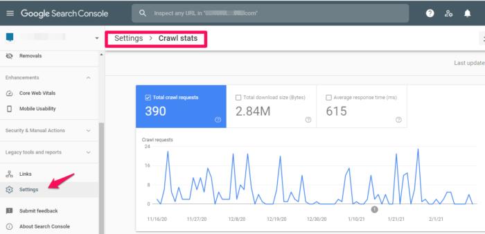 crawl report google search console.