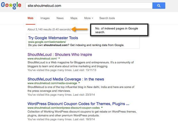 get website indexed example