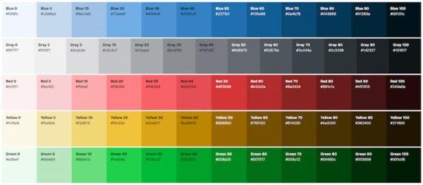 Color palette in WordPress 5.7