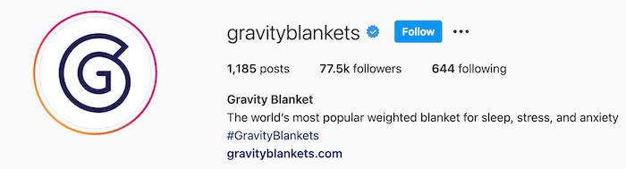 gravity blankets instagram