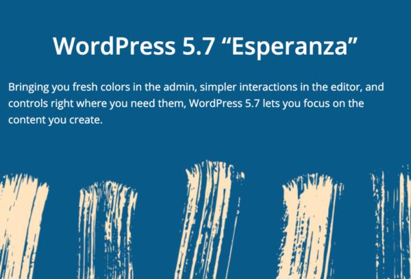 SEO news in March 2021: WordPress 5.7 Esperanza