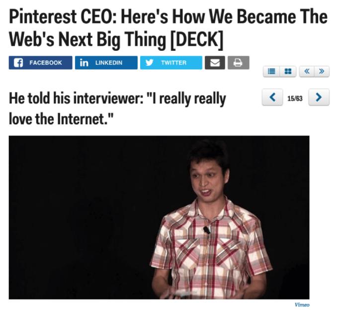 pinterest ceo the next big thing brand storytelling