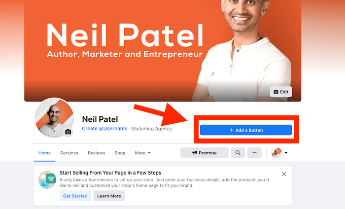 How to Create a Facebook Business Page - Add a CTA Button to Your Page