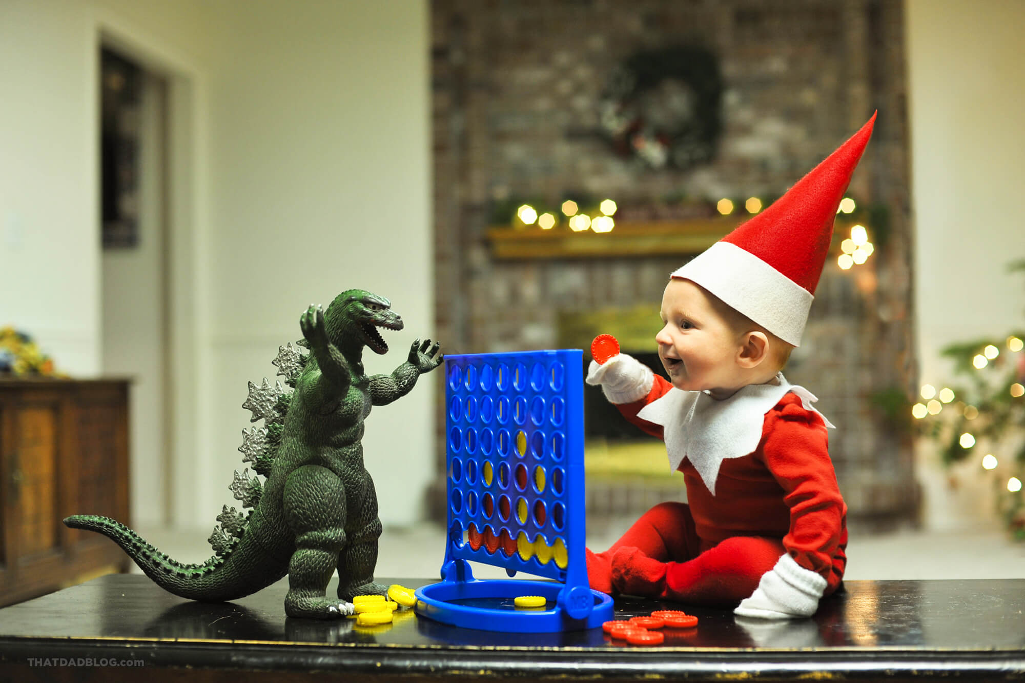 Elf on the shelf connect four