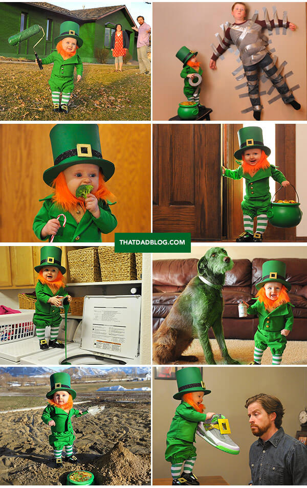 Real Life Leprechaun That Dad Blog - Dad turns his 6 month old son into real life leprechaun for st patricks day