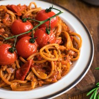 Roasted Cherry Tomatoes Pasta