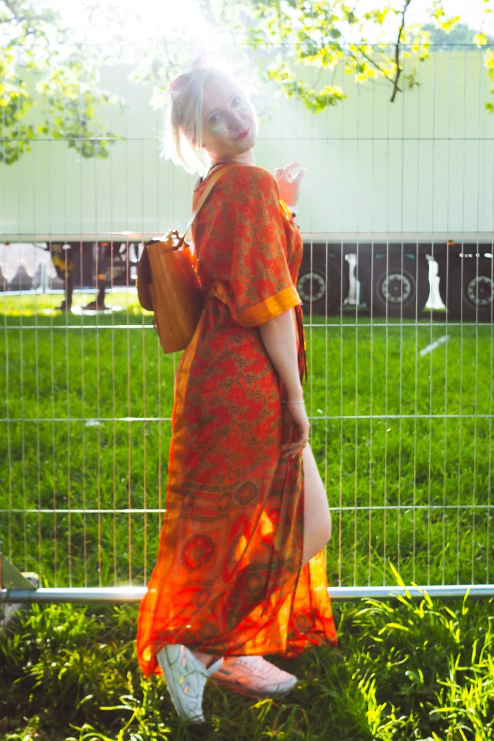 gorgeous orange festival kimono real silk love saves the day