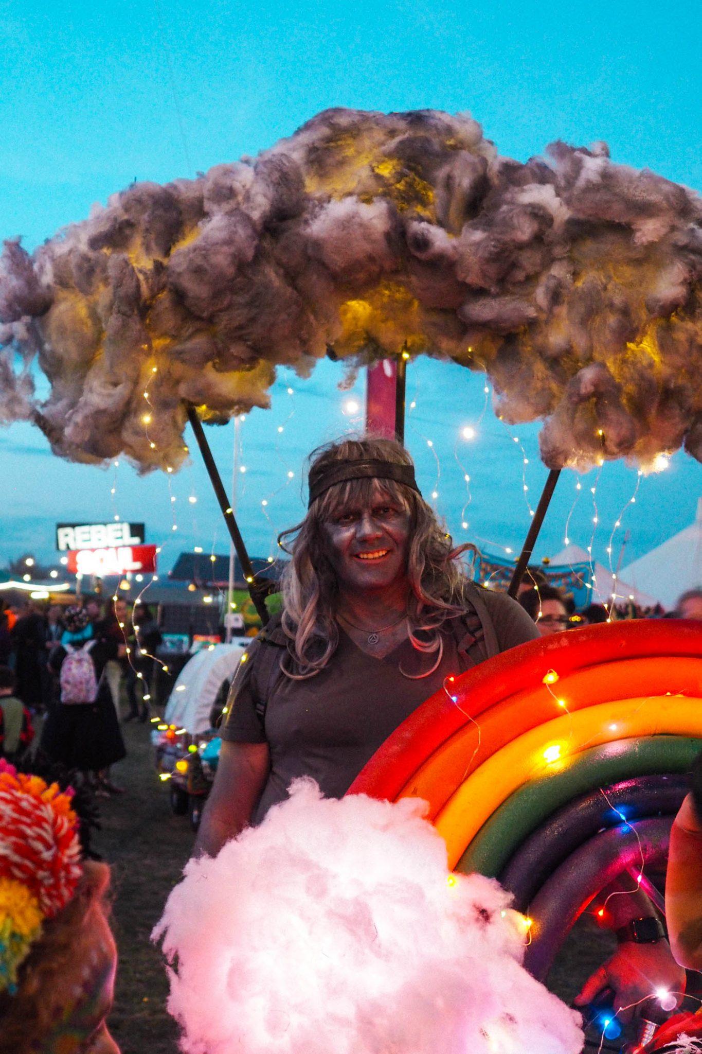 Light up cloud costume