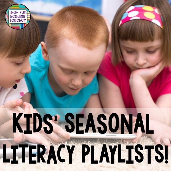 Fun, free, seasonal playlists to keep classroom listening center relevant and engaging all year long! #education #kindergarten #earlyliteracy #free