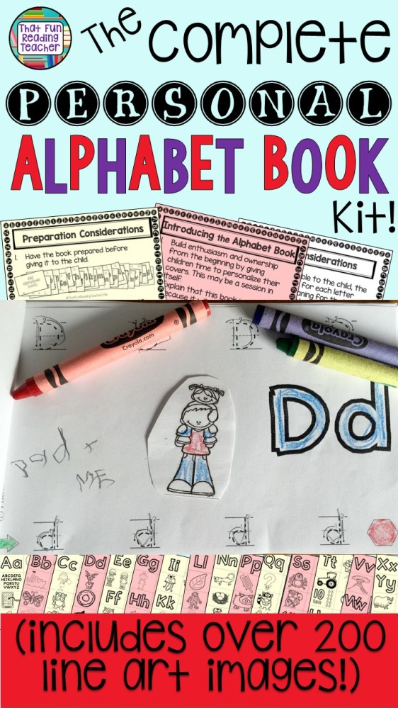 Everything you need to make personal alphabet books - all in one place! Huge time-saver for Reading Recovery and early literacy teachers! $