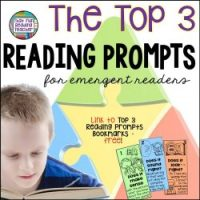 The top 3 Reading Prompts for emergent readers