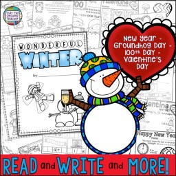 Winter Read and Write and More K-2 Activities (including New Year, Groundhog Day, Valentine's Day, 100th Day of School)! $