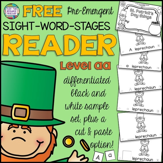 Free PreEmergent reader for St. Patrick's Day! Level aa!