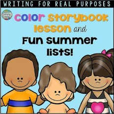 Color Storybook Lesson & Fun Summer Lists!
