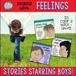 Feelings books - Teaching children about emotions (starring boys) | ThatFunReadingTeacher $