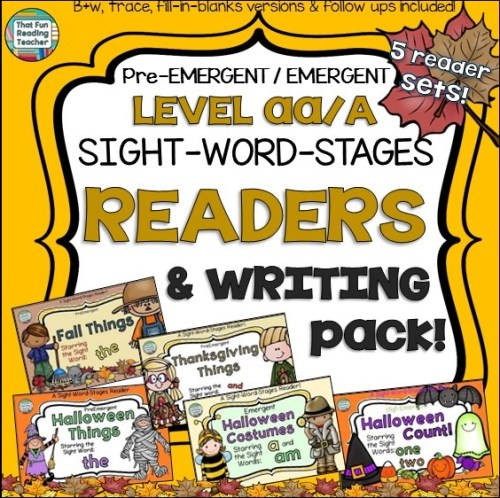 Fall Emergent Reader Bundle