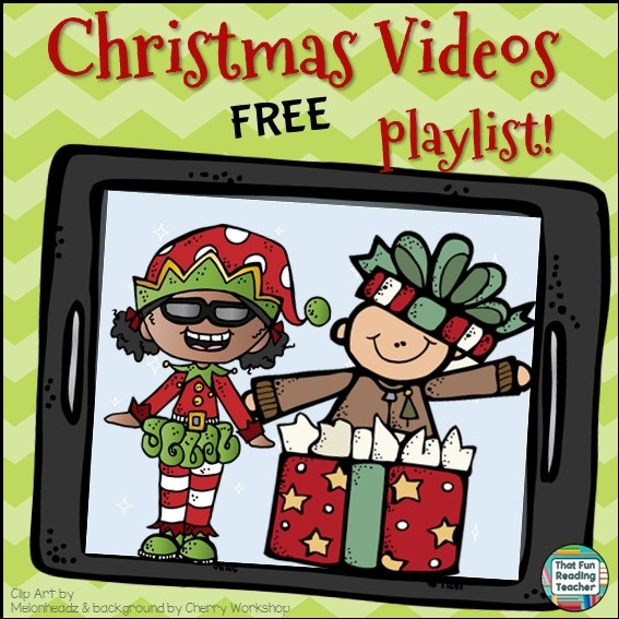 Christmas Videos - FREE on ThatFunReadingTeacher.com