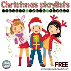Christmas playlists free on ThatFunReadingTeacher.com