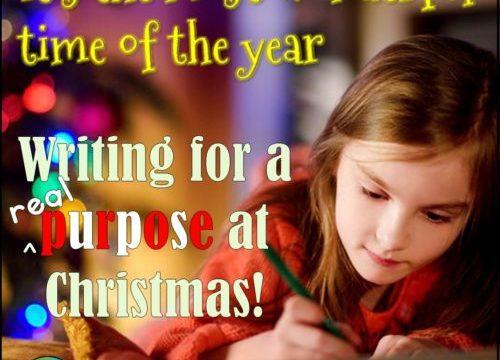 Writing for real purposes – at Christmas!