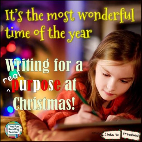 It's the most wonderful time of the year to motivate kids to write for real purposes!