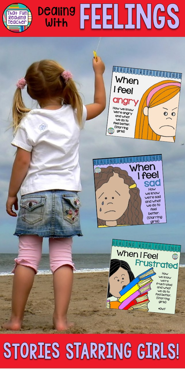 Feelings books -Teaching girls about expressing and managing emotions? Here are some color and black and white feelings stories they'll relate to!