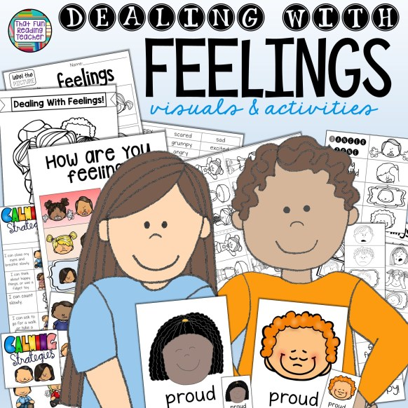 Dealing-With-Feelings visuals and activities bundle