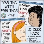 When I Feel Angry - recognizing, expressing & managing anger. Printable activity, color and b&w versions of stories incl. $ #DWF