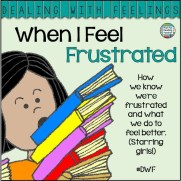 When I Feel Frustrated -children's story about recognizing, expressing & managing frustration. Printable activity, color & b+w version of story incl. $ #DWF