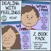 When I Feel Sad - recognizing, expressing & managing sadness. Printable activity, color and b&w versions of stories incl. $ #DWF